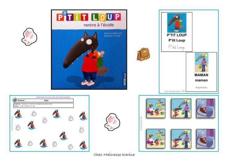 Un dossier pédagogique autour d l'album Ptit Loup rentre à l'école, personnage qui va nous accompagner tout au long de l'année.  Ce doss...