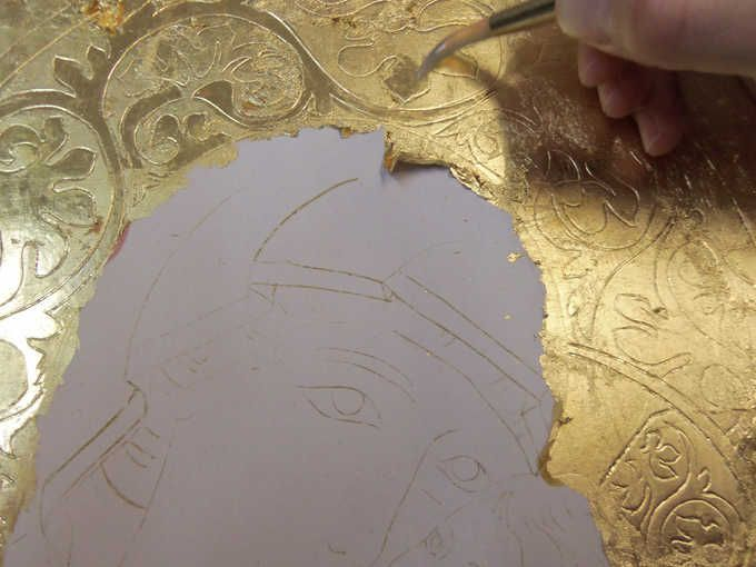 <b>CORSO AVANZATO DORATURA A GUAZZO 80 ORE</b> - brunitura(lucidatura) dell'oro con pietra d'agata