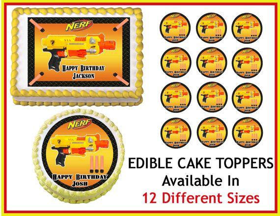 Nerf Edible Cake Topper