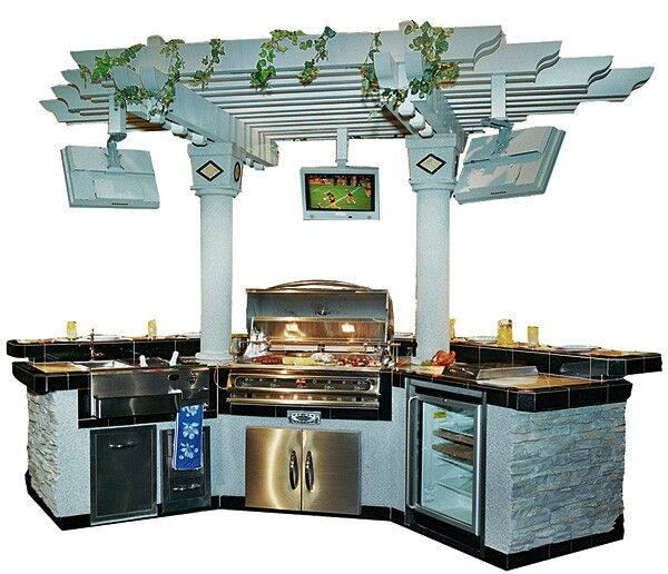 Pergola grill area outdoor pinterest grill area and for Balcony grill and bar
