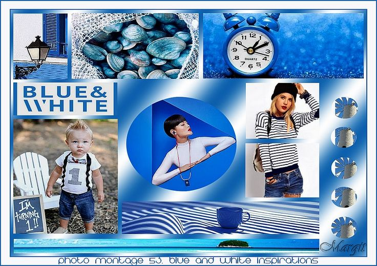 Photo montage 53. blue and white inspirations