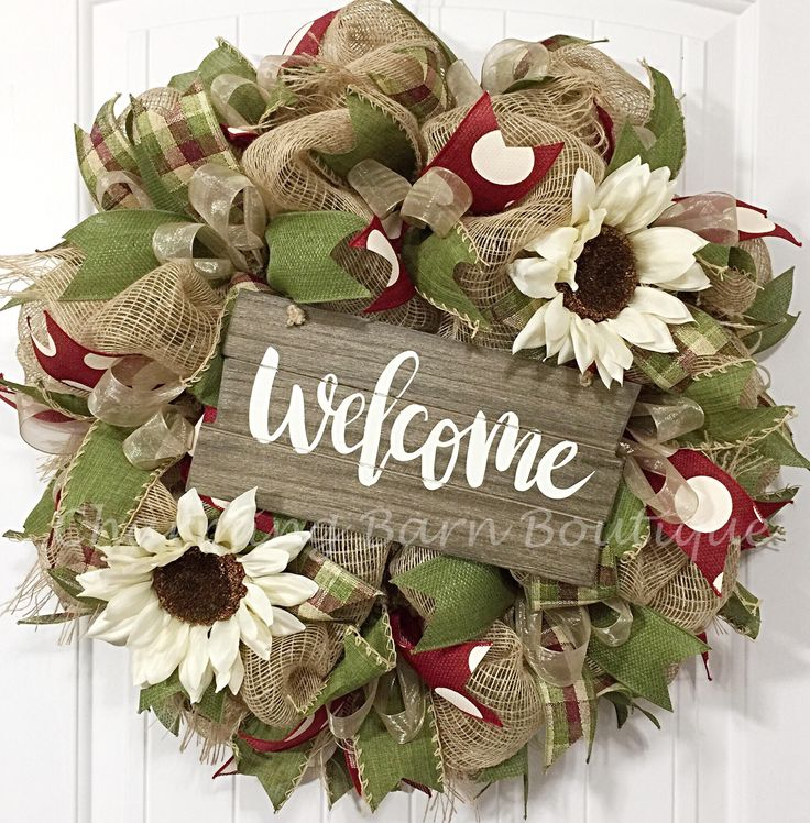 Welcome Guests With Fall Door Decorations: Best 25+ Welcome Wreath Ideas On Pinterest