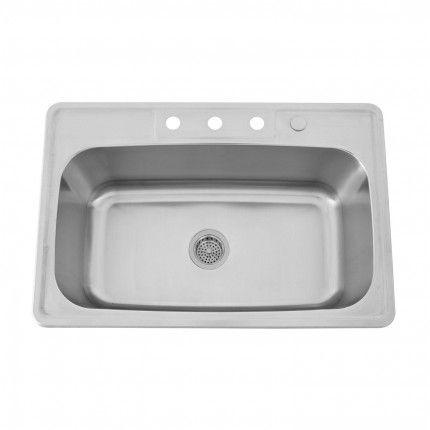 """33"""" Infinite Stainless Steel Drop-In Sink"""