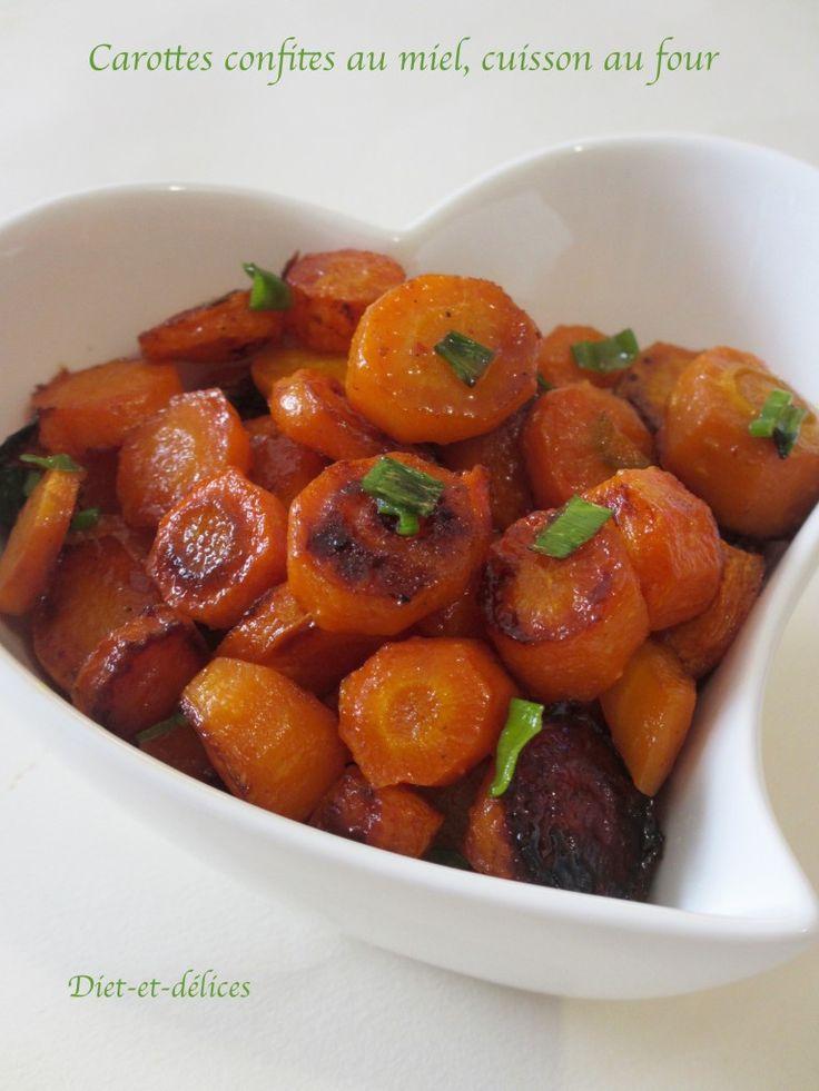 Carottes confites au miel, cuisson au four Recette végétarienne