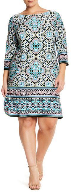 So cute!  Plus Size Shift Dress