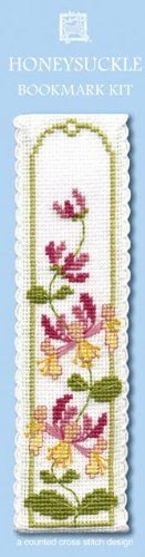 Textile Heritage Honeysuckle Counted Cross Stitch Bookmark Kit