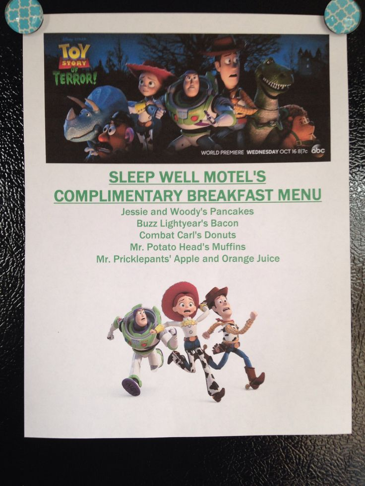 disney movie night menu toy story of terror annettewishesfamilytravelcom - Story Of Halloween Movie