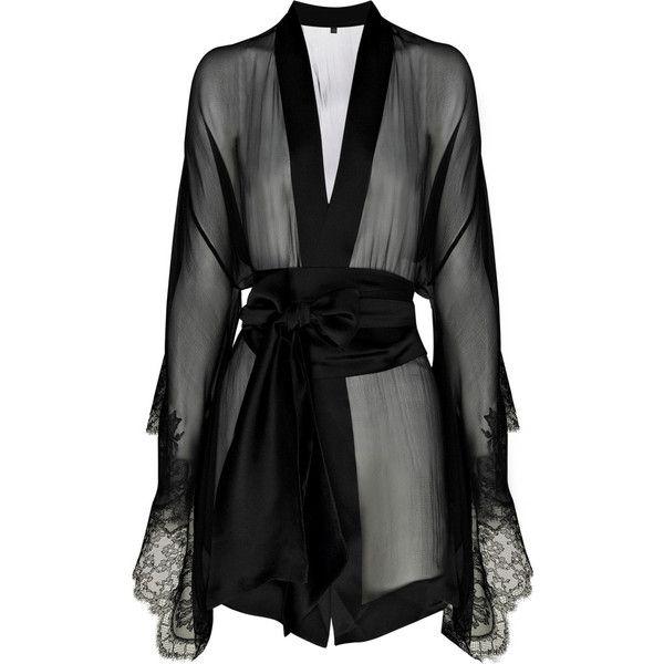Carine Gilson Frou Frou silk-chiffon kimono ($645) ❤ liked on Polyvore