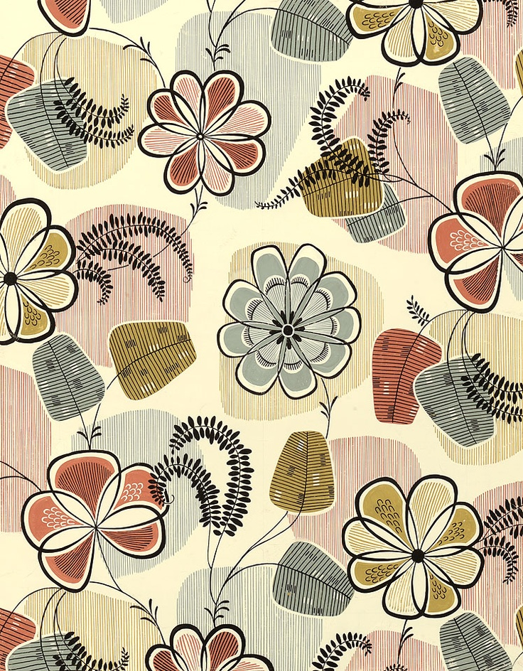 Image detail for -1950s original designs for wallcovering and textiles / part 4