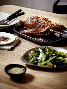 This is what we're cooking for dinner tonight. Andrew McConnell's Lamb Shoulder ... delicious.