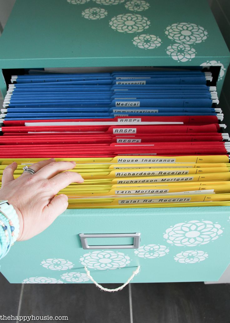 Organizing Paperwork with a Colour Coded File System - The Happy Housie