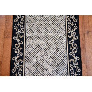 Black Scroll Border Carpet Runner Purchase By The Linear
