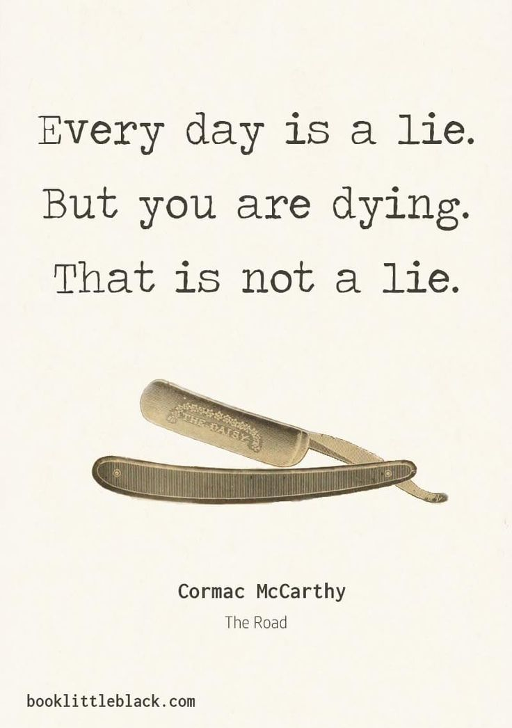 """Cormac McCarthy Quotes from """"The Road"""" 