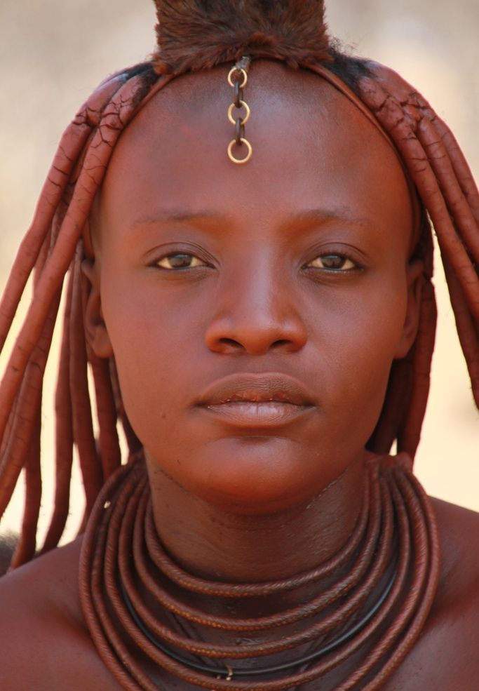 Himba Woman Himba Women Rub Their Bodies And Hair With -7122