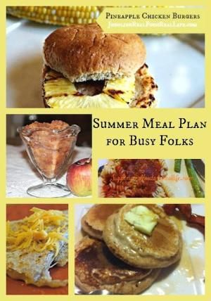 Summer Meal Plan for Busy Folks. Lots of delicious real food recipes and free meal planning calendar included. by aline