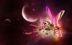 download free abstract 3d space wallpaper desktop background image