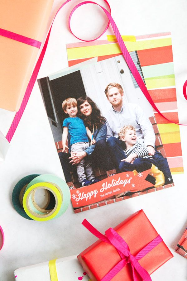 Custom Holiday Cards by Pear Tree Greetings | Oh Happy Day!