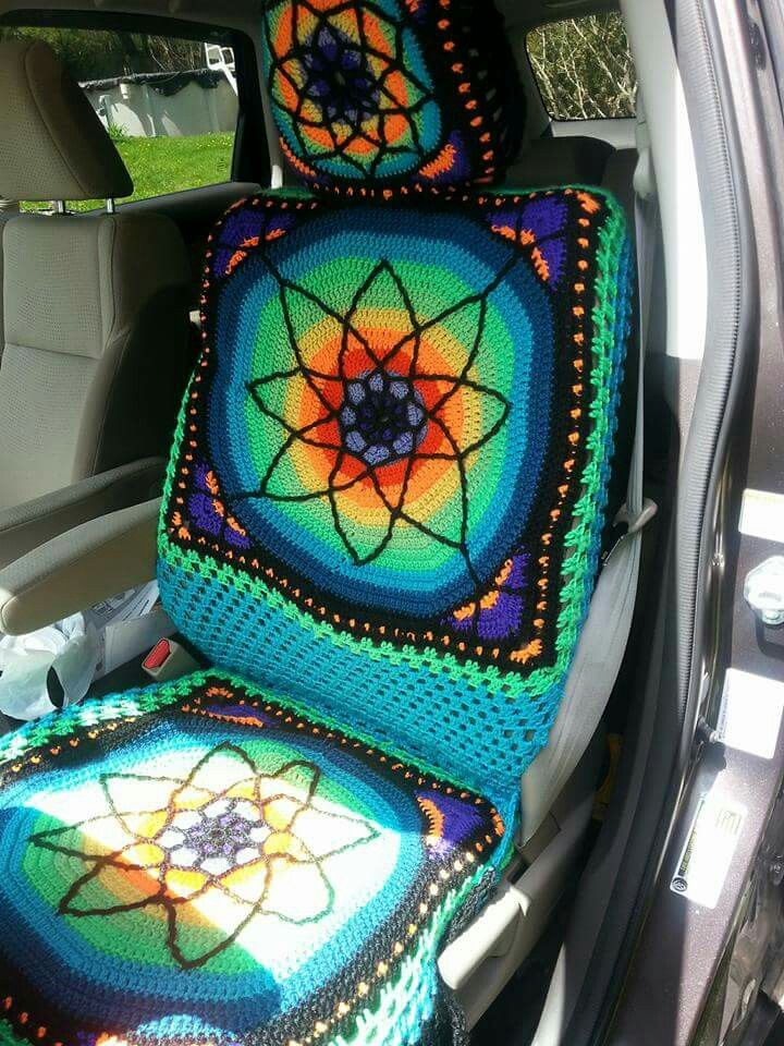Another Hippie Car Seat Cover I Made For A Honda Crv Honda Crv Car Hippie Car Carseat Cover