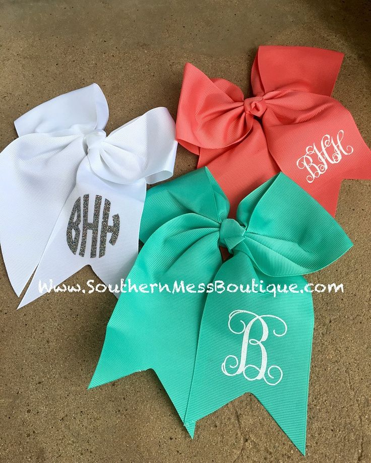 Glitter Monogram Hair Bows – Southern Mess Boutique