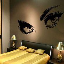 1 PCS PVC 3D Sexy yeux Stickers muraux Home Decor Stickers Stickers amovible autocollants chambres adhésif au mur décoration(China (Mainland))