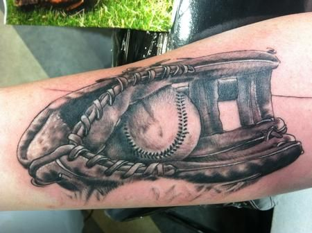 Realistic Baseball Tattoos