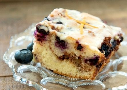 Blueberry Cinnamon Coffee Cake using Cake Mix Doctor Simply Yellow mix!