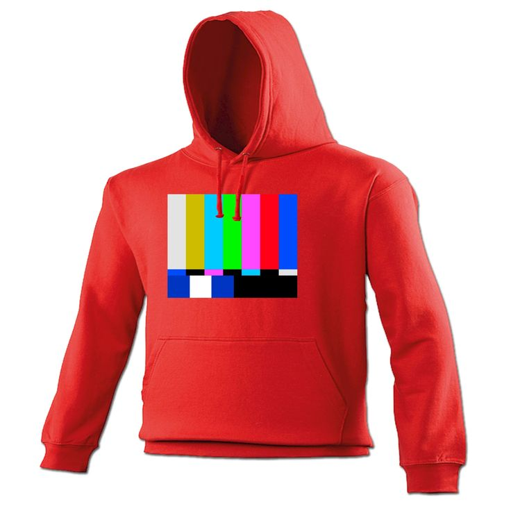 123t USA TV Colour Test … Block Design Funny Hoodie