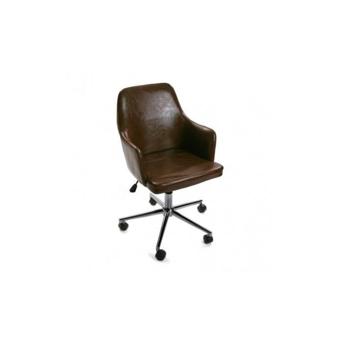 Chaise De Bureau Vintage Chaise De Bureau Vintage Marron Alice Achat Vente Chaise De Chair Office Chair Furniture