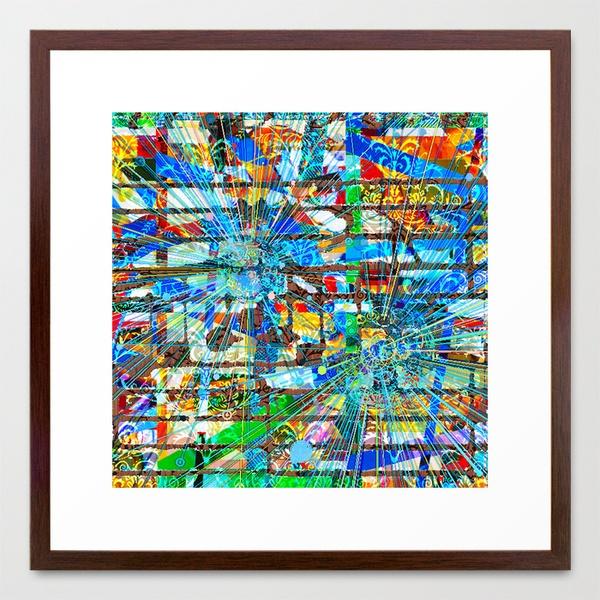 "Ronnie (Goldberg Variations #2)  by Wayne Edson Bryan    FRAMED ART PRINT / CONSERVATION WALNUT MEDIUM (GALLERY) (22"" X 22"")  $94.00"