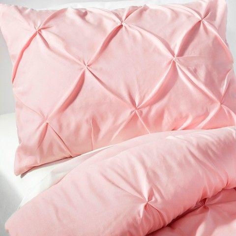 Pinch Pleat Comforter Set Full/Queen Light Pink 3pc - Pillowfort™