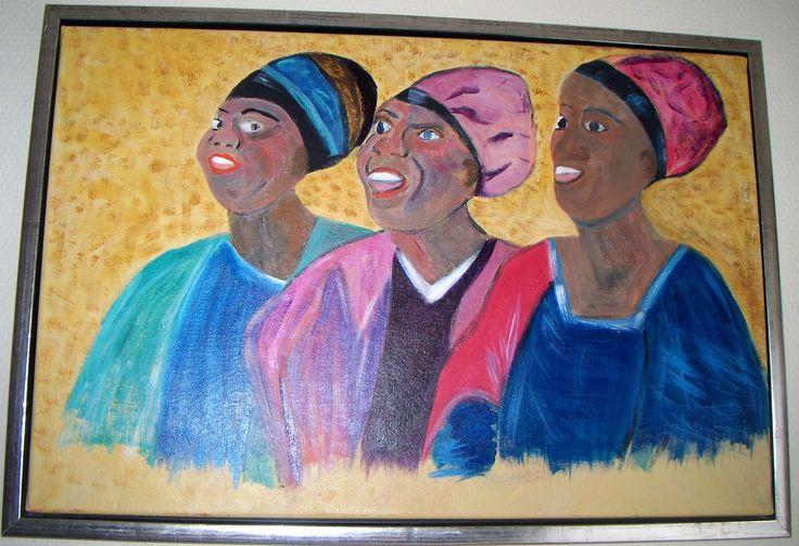 Afro kvinder 60 x50