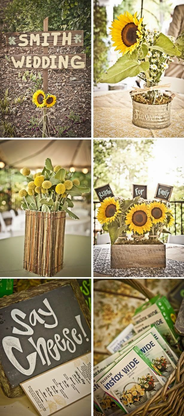 Sunflower Wedding Decoration | http://simpleweddingstuff.blogspot.com/2014/03/sunflower-wedding-theme.html