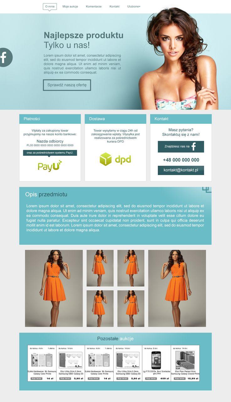 Prosty, przejrzysty gustownie wykończony szablon do sprzedaży np. odzieży damskiej :)  #szablony_allegro #sukienki #odzież_damska #allegrodesign