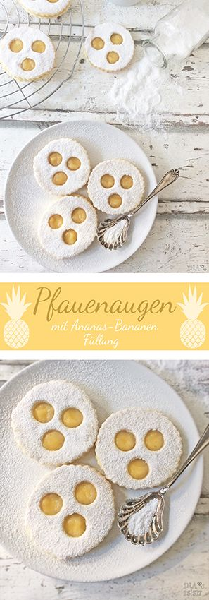 Pineapple Banana Cookies /// Pfauenaugen mit Ananas-Bananen-Füllung