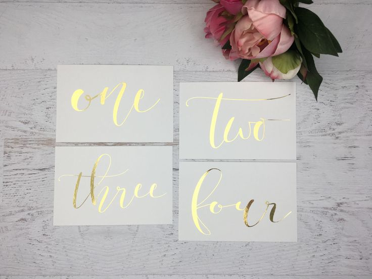 Gold Table Numbers - Table Markers - Wedding Table Decor - Gold Table Decor - White Table Markers - Gold Foil Table Markers - Gold Wedding by GildedPaperCo on Etsy https://www.etsy.com/listing/275942772/gold-table-numbers-table-markers-wedding
