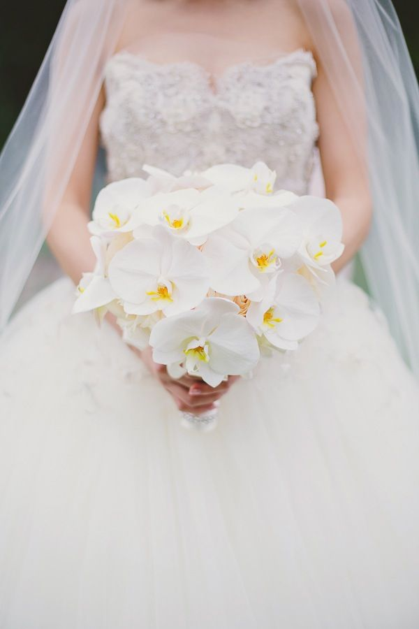 Romantic Blush Pink & Violet Wedding Filled With Orchids