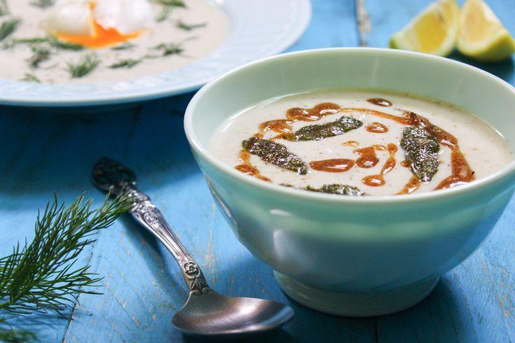 Recept na Krémová polévka z topinambur a žampionů z kategorie snadno a rychle, fitness, bezlepkové:  500 g oloupaných a očištěných topinambur (po očištěn...
