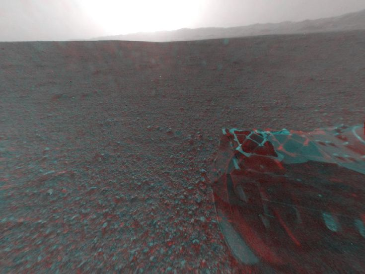 NASA - 3-D View from Behind Curiosity: Mars Rovers, Curio Rovers, Curiosity3Dsoljpg 1024925, Pe Mart, Curio Send, 3D Photo, Nasa Curio, Mars Curio, Outer Spaces