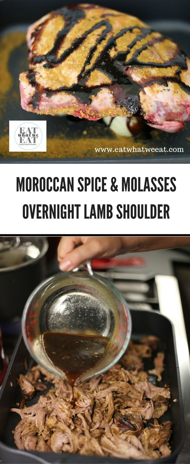 This mouthwatering roast lamb is fork tender and perfumed with Moroccan spices and sweet from a drizzle of molasses. Such an easy recipe that cooks to perfection as you sleep.