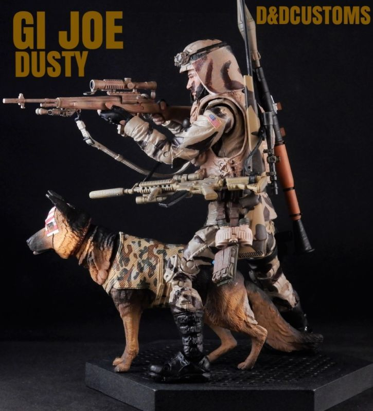 "GI JOE DUSTY 6"" 1:12th Scale (G.I. Joe) Custom Action Figure [CUSTOM GI JOE DUSTY STYLE 6"" INCH 1:12th SCALE ACTION FIGURE BLACK SERIES MARVEL LEGENDS STYLE] by D&DCUSTOMS"