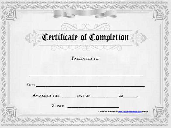 certificates of completion template completion certificate