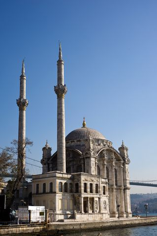 '''Ortakoy Mosque''', officially the '''Buyuk Mecidiye Camii''' in Istanbul, is situated at the waterside of the OrtakOy pier square, one of the most popular locations on the Bosphorus.