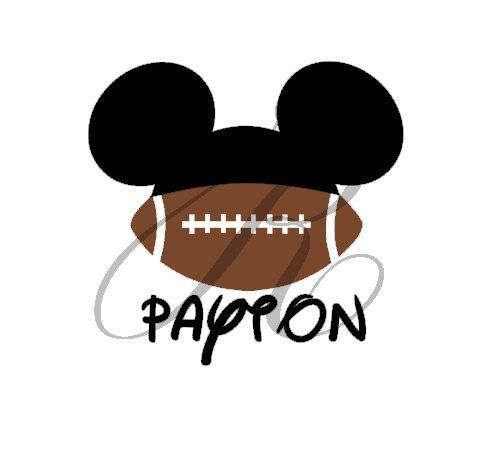personalized football disney mickey minnie by randrcustomdesigns 599