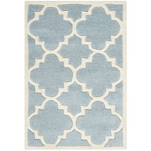 Safavieh Chatham Collection CHT730B Handmade Blue And Ivory Wool Area Rug