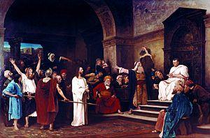 Christ before Pilate, Mihály Munkácsy, 1881