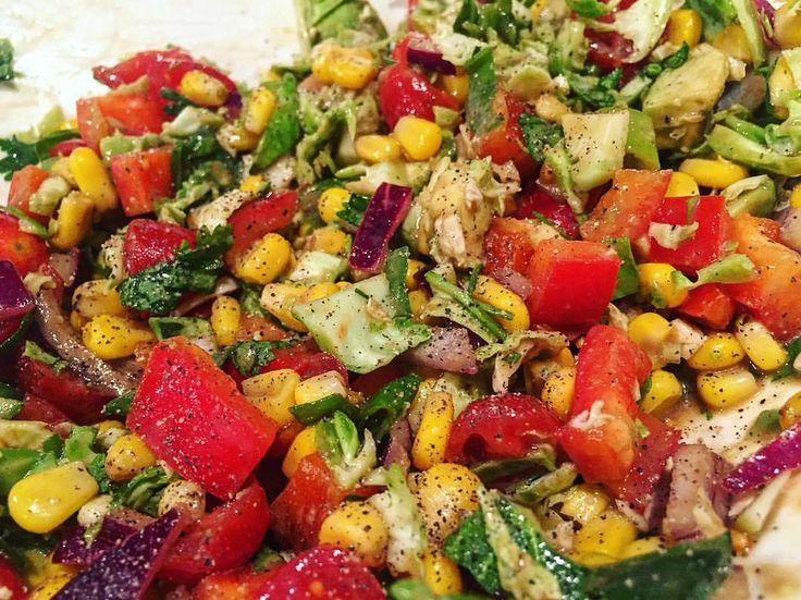 https://www.instagram.com/p/BLcZ0IRjhqa/ balsamico vinäger vinäigrette sallad tomat gurka sallad peppar olivolja salsa