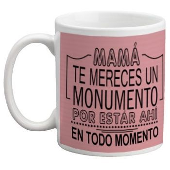 Taza día de la Madre con foto y frase Izquierda