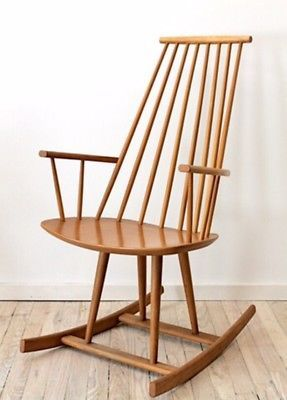 Poul Volther Danish Birch Rocking Chair For FDB Møbler Mid Century Modern
