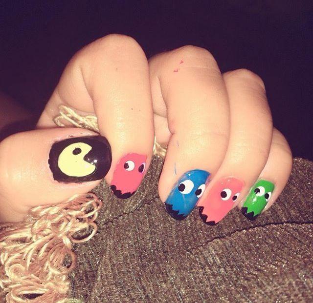 #tonight #nailsart #nailsartdesign #nailsdesings #designnails #uñas #diseño #packman #packmannails #art #dedos #instanails #인스타 #네일아트 #네일스티커 #인스타네일 #네일