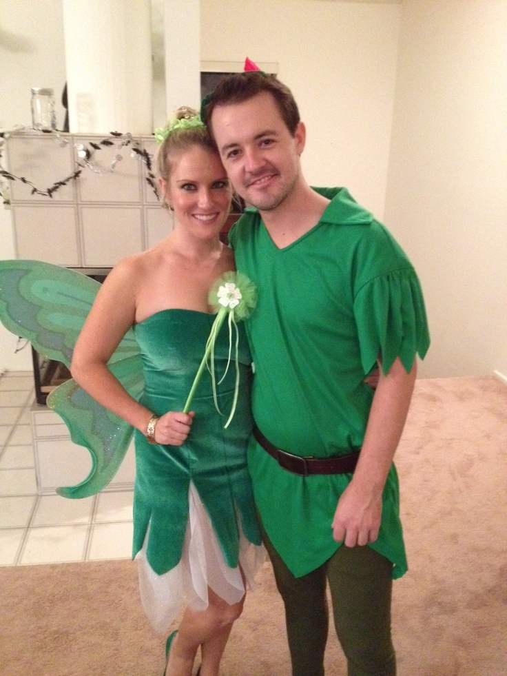 tinkerbell and peter pan halloween costumes